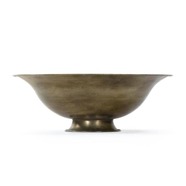 Curved Iron Sheet Antique Gold Magalie Bowl