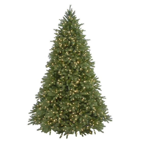 7.5 ft Feel Real Jersey Fraser Fir Pre-Lit Artificial Christmas Tree with 1250 Mini White Lights