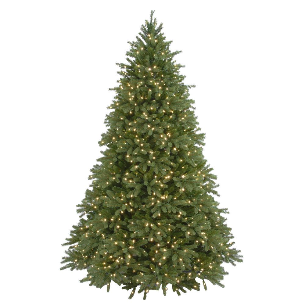 Real Christmas Tree.Home Accents Holiday 7 1 2 Ft Feel Real Jersey Fraser Fir Hinged Artificial Christmas Tree With 1250 Clear Lights