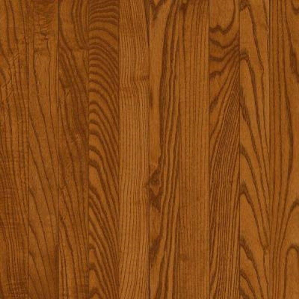 Take Home Sample - Plano Oak Strip Gunstock Solid Hardwood Flooring - 5 in. x 7 in.