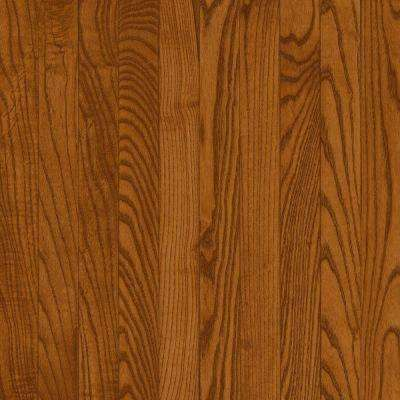 Take Home Sample - Plano Oak Strip Gunstock Solid Hardwood Flooring - 5 in. x 7 in.