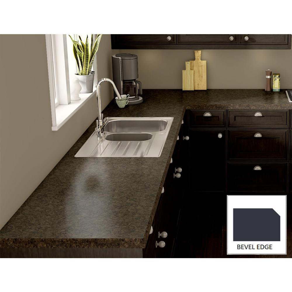 Wilsonart milano brown laminate custom bevel edge c f for Laminate countertops cost per linear foot