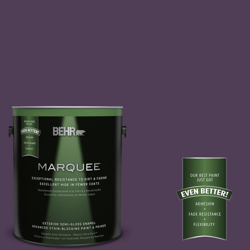 BEHR MARQUEE 1-gal. #S-H-680 Purple Bloom Semi-Gloss Enamel Exterior Paint