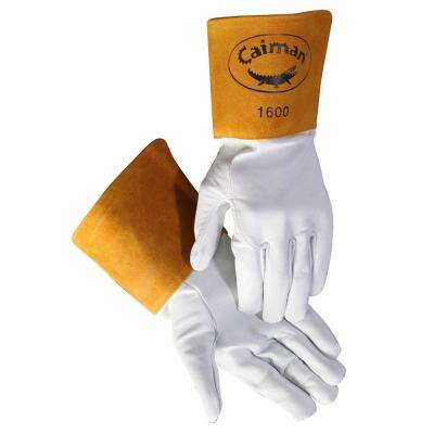 Medium Pearl Goat Skin TIG Welding Gloves Unlined
