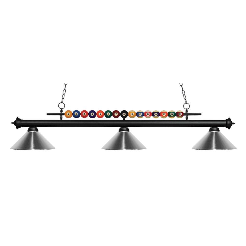 Filament Design Kerstin 3-Light Matte Black Billiard Light