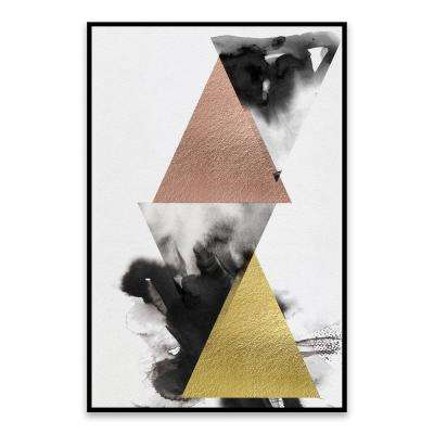 """Pyramid"" by Nikki Chu Framed Hand Embellished Canvas Wall Art"