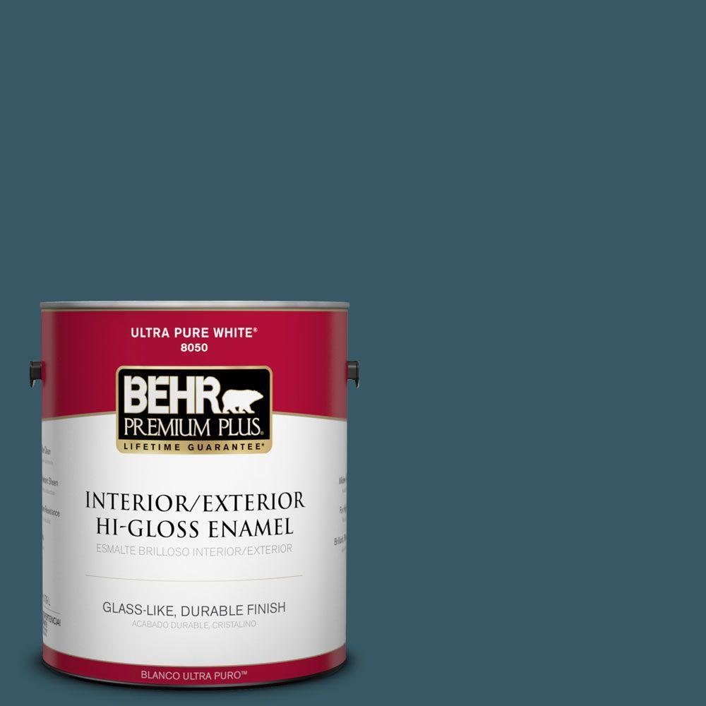 BEHR Premium Plus 1-gal. #S460-7 Deep Breath Hi-Gloss Enamel Interior/Exterior Paint