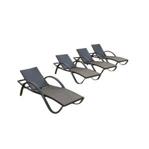 RST Brands Deco 4-Piece Wicker Outdoor Chaise Lounge by RST Brands