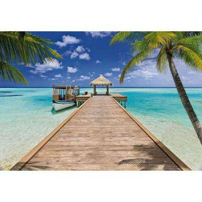 100 in. x 145 in. Beach Resort Wall Mural