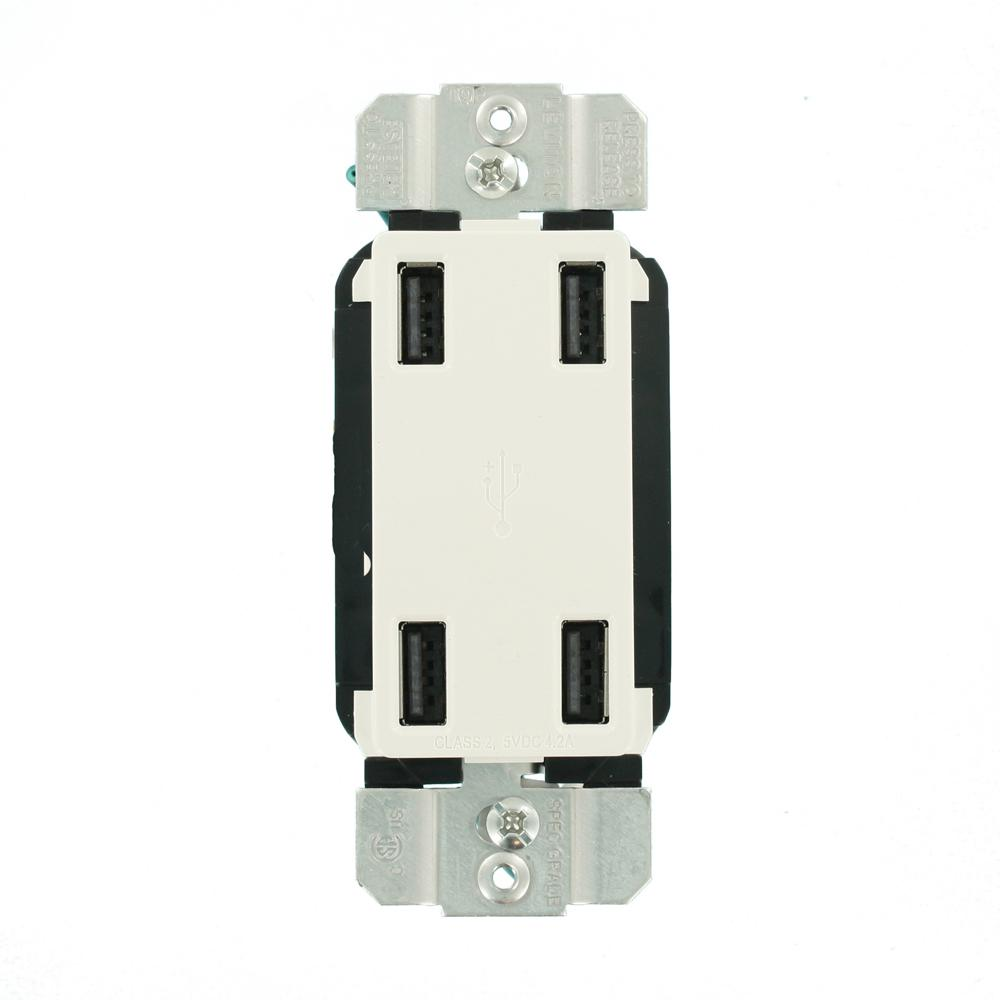 Wired Fast Installation Dual 4.2 Amp USB 8.4 Amp Charger  Plug Socket 12V