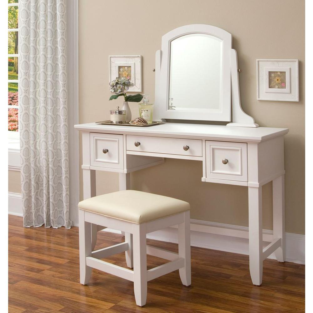 Home Styles Naples 3-Piece White Vanity Set-5530-72 - The Home Depot