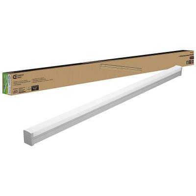 4 ft. 220-Watt Equivalent Integrated LED White Commercial Strip Light Fixture 4000K High Output 5500 Lumens