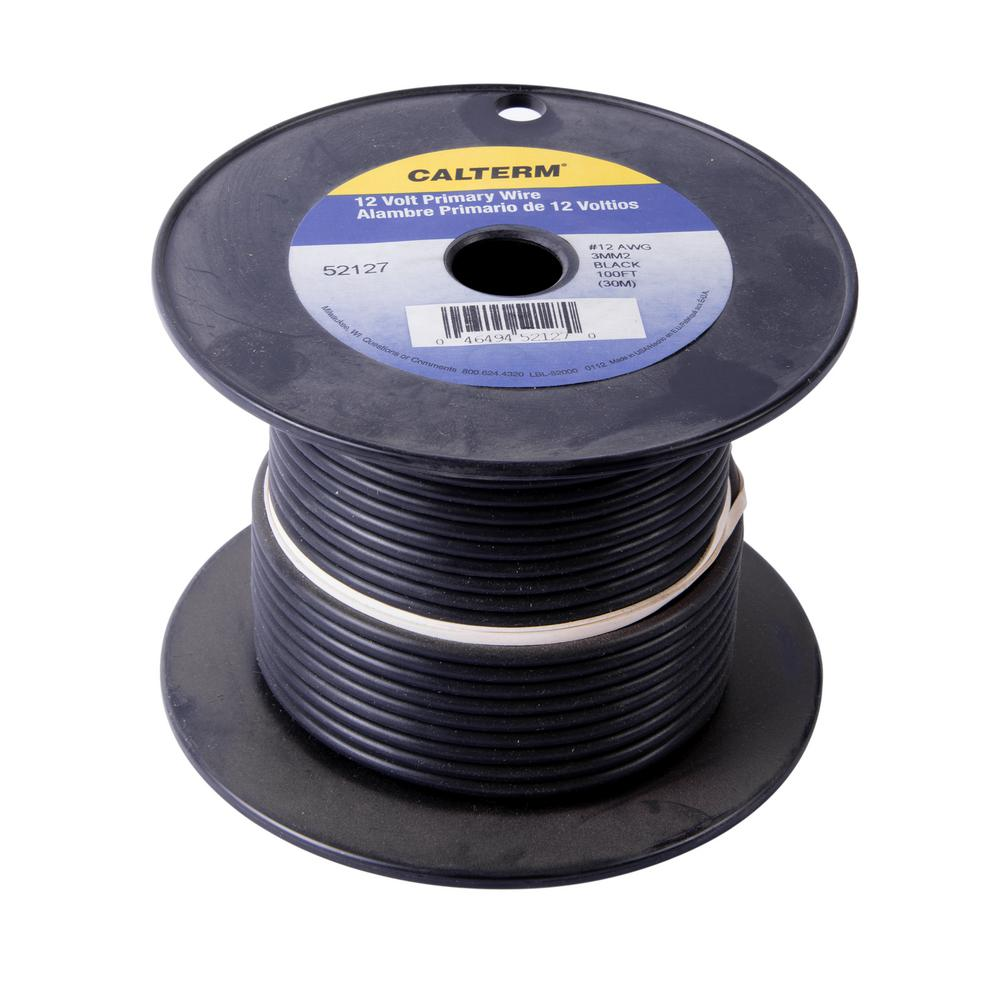 100 ft. 12 AWG Primary Wire Spool, Black (Case of 5)