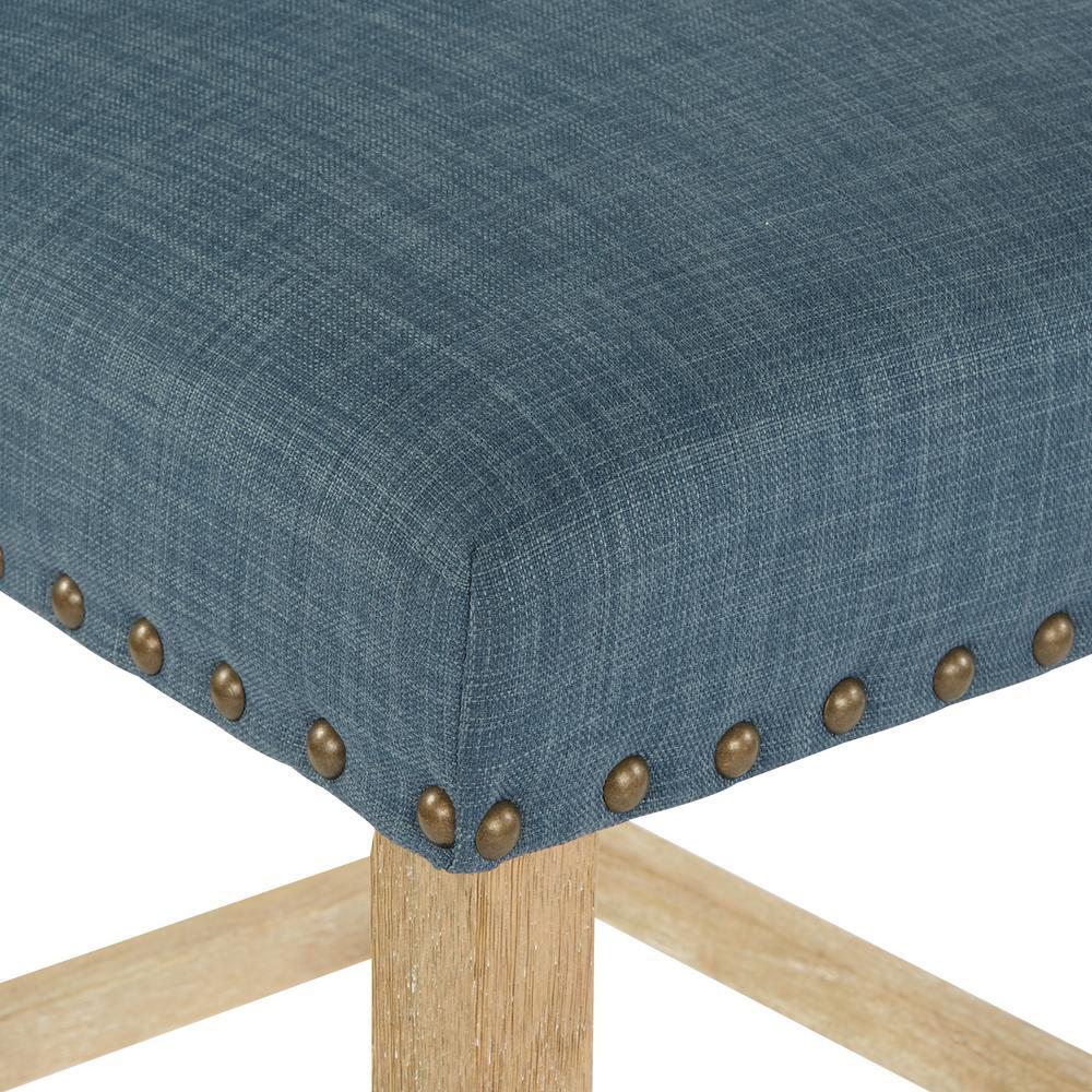 Pleasing Osp Home Furnishings 24 In Milford Indigo Fabric With Machost Co Dining Chair Design Ideas Machostcouk
