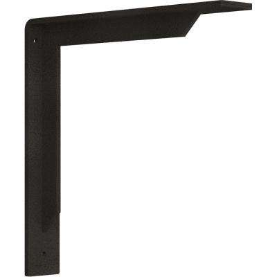 2 in. x 12 in. x 12 in. Steel Hammered Dark Bronze Stockport Bracket