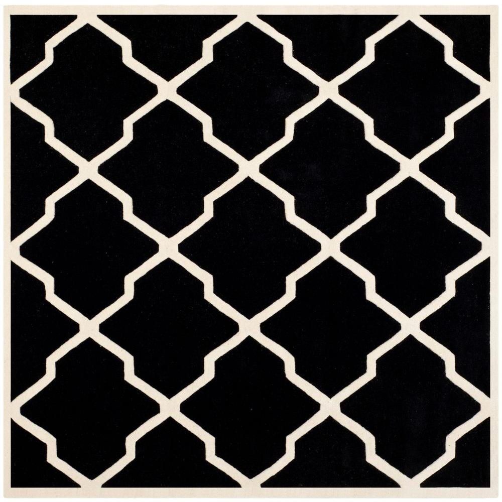 Chatham Black/Ivory 7 ft. x 7 ft. Square Area Rug