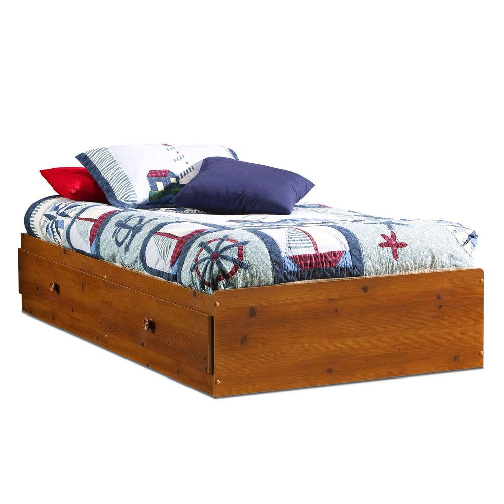 South Shore Sand Castle Twin Storage Bed in Sunny Pine