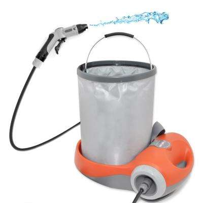 Pure Clean Travel Outdoor Portable Spray Pressure Washer Cleaning System for Camping Car Wash With Pop Out Bucket