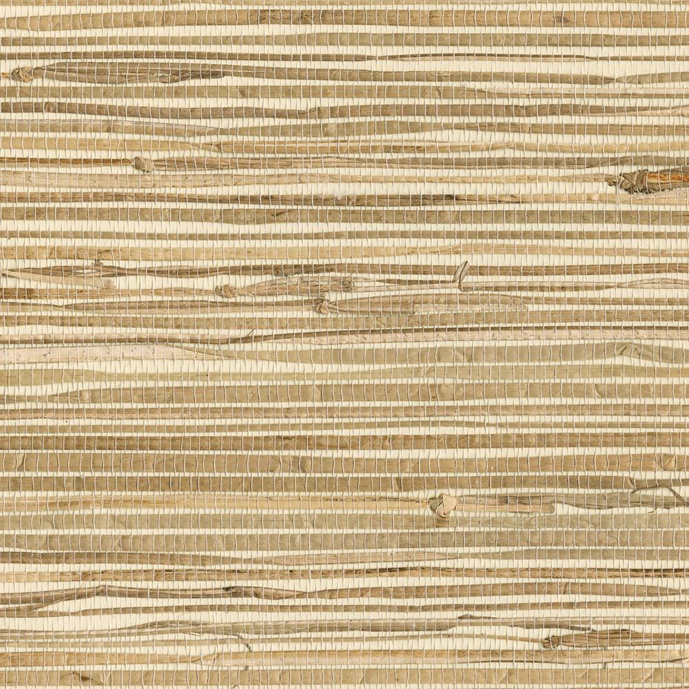 Kenneth James Kyodo Neutral Grasscloth Wallpaper Sample ...