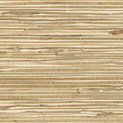 Kyodo Neutral Grasscloth Wallpaper Sample