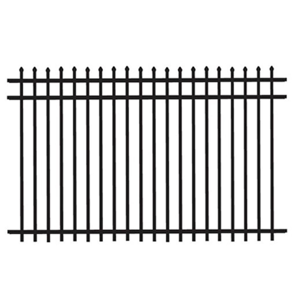 Home Depot Fencing Metal : Tuffbilt cascade heavy duty ft h w black