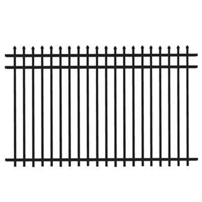 Cascade Heavy-Duty 5 ft. H x 8 ft. W Black Aluminum Pre-Assembled Fence Panel