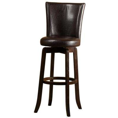 Copenhagen 26 in. Espresso Swivel Cushioned Counter Stool