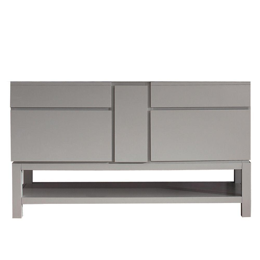 Tribeca 60 in. Vanity Cabinet Only in Chilled Gray