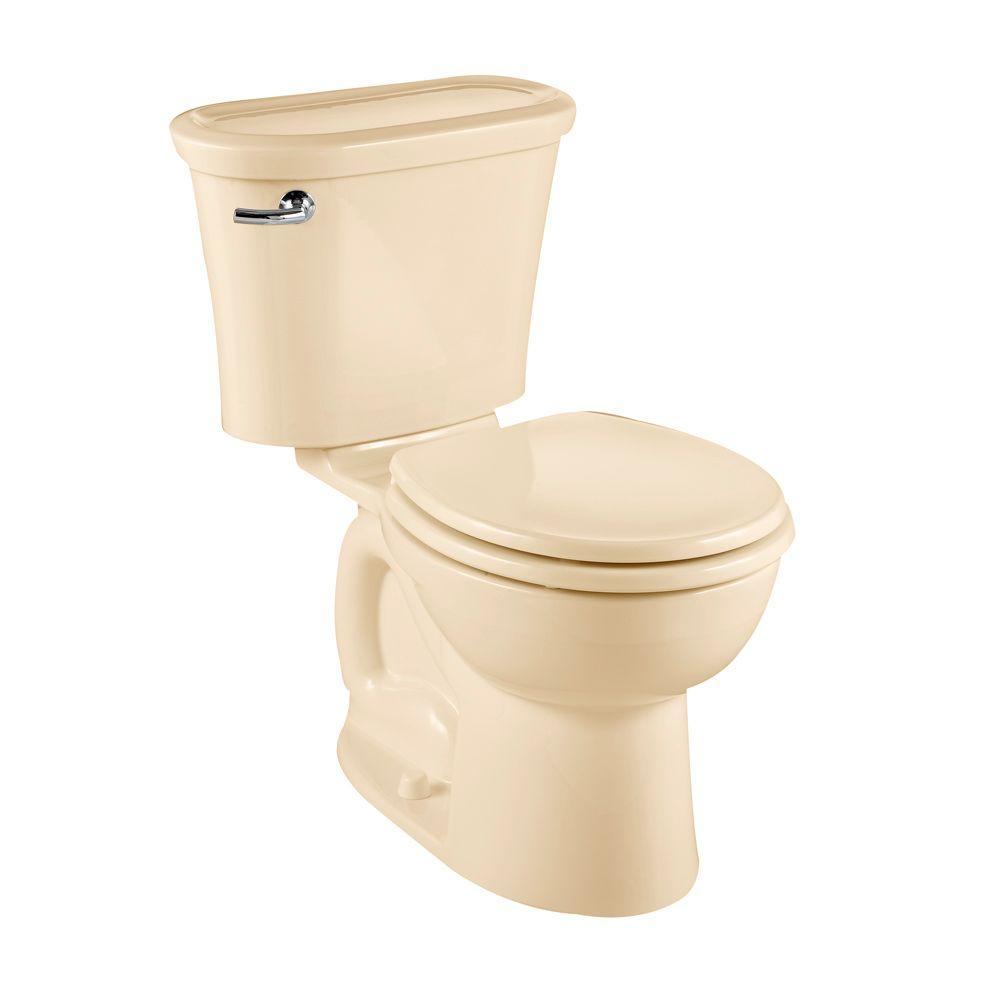 American Standard Tropic 2-piece 1.6 GPF Round Toilet in Bone-DISCONTINUED
