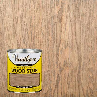1 qt. Weathered Oak Classic Wood Interior Stain (2-Pack)