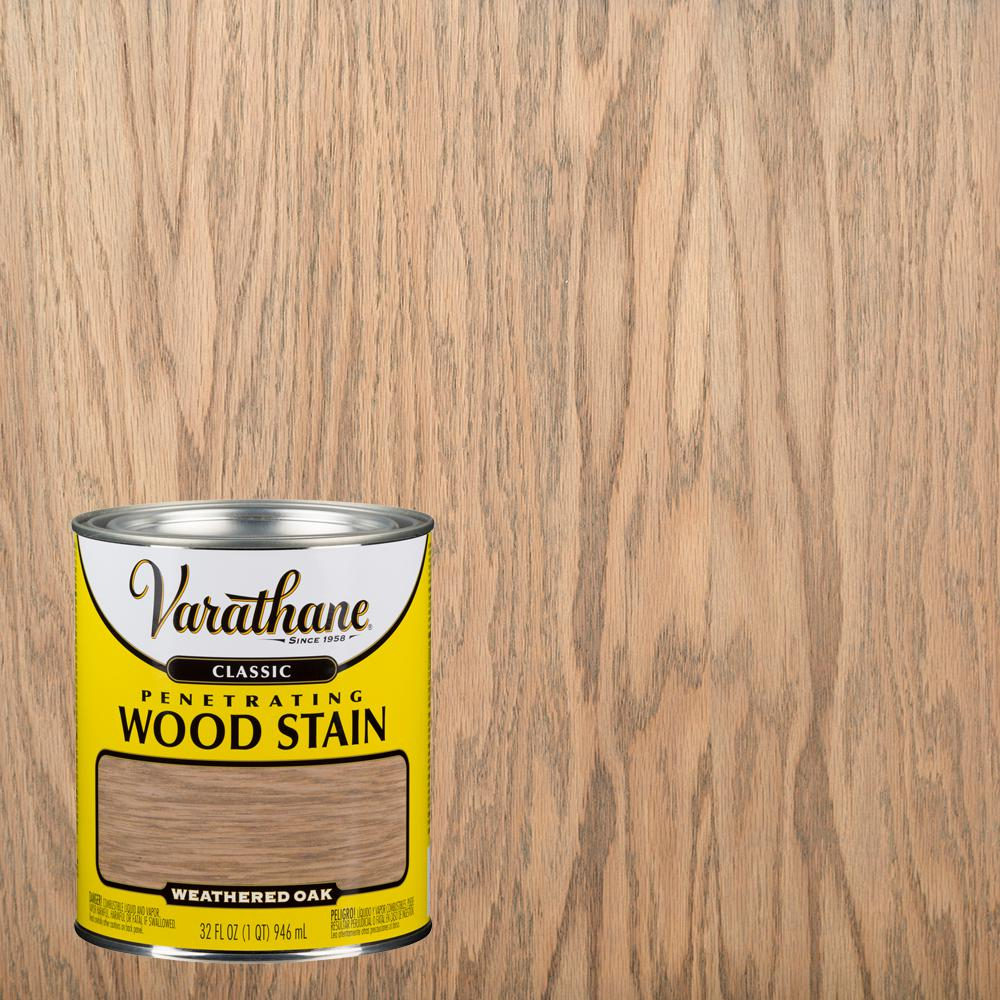 Varathane 1 qt. Weathered Oak Classic Wood Interior Stain (2-Pack)