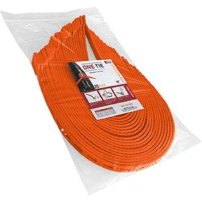 20 in. Cable Ties, Orange (25-Pack)