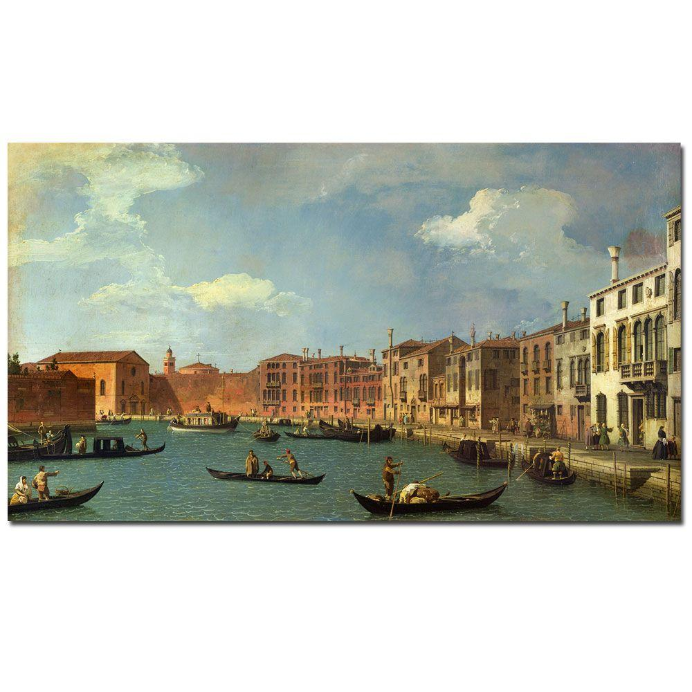 18 in. x 32 in. Canal of Santa Ciara Venice Canvas