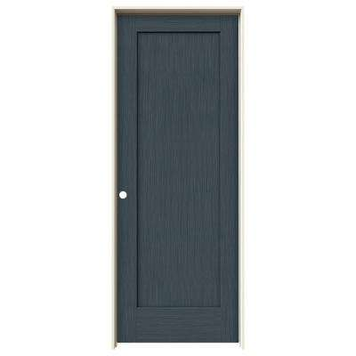 32 in. x 80 in. Madison Denim Stain Right-Hand Solid Core Molded Composite MDF Single Prehung Interior Door