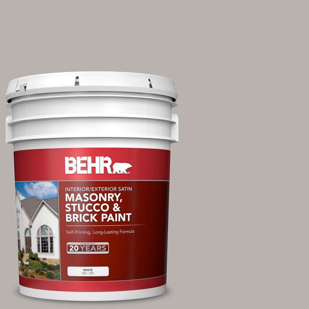 5 gal. #MS-84 French Gray Satin Interior/Exterior Masonry, Stucco and Brick Paint