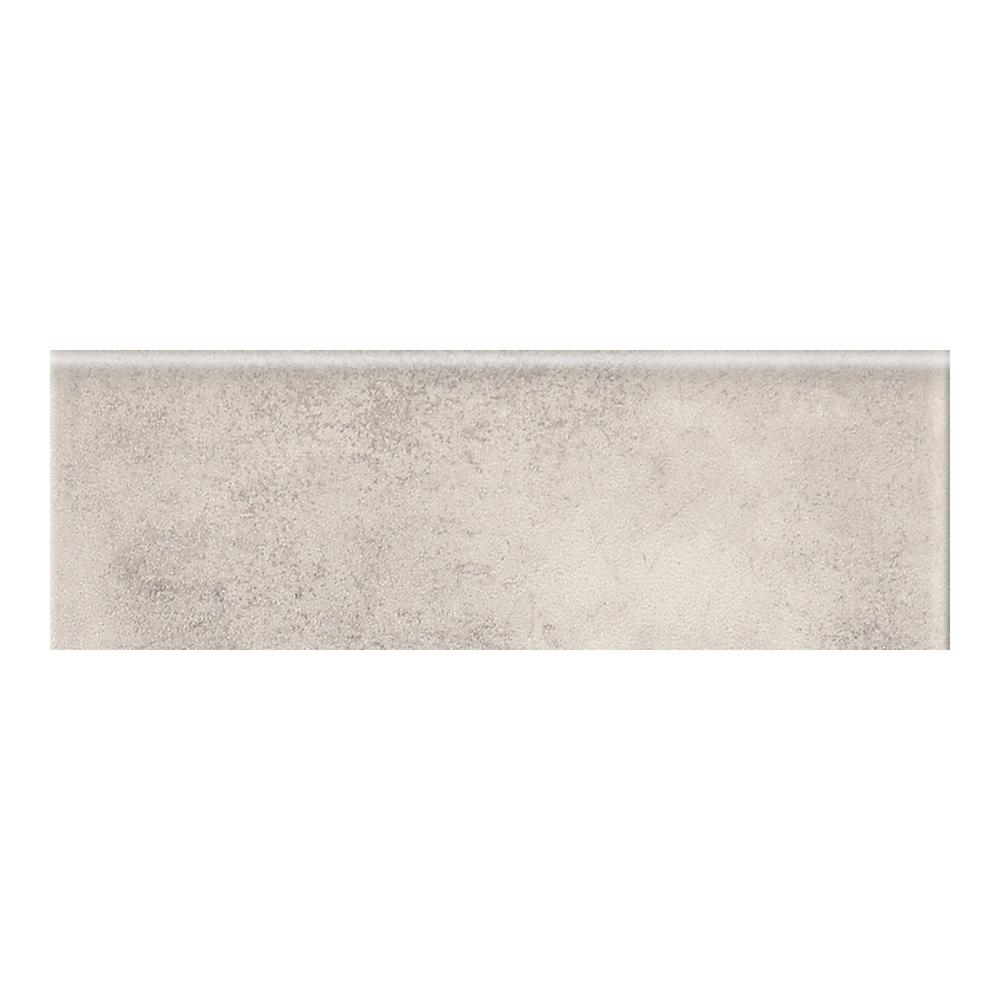 Eclectic Vintage Exposed Concrete 2 in. x 6 in. Ceramic Bullnose
