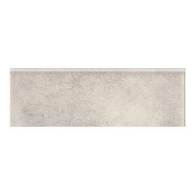 Eclectic Vintage Exposed Concrete 2 in. x 6 in. Ceramic Bullnose Wall Tile