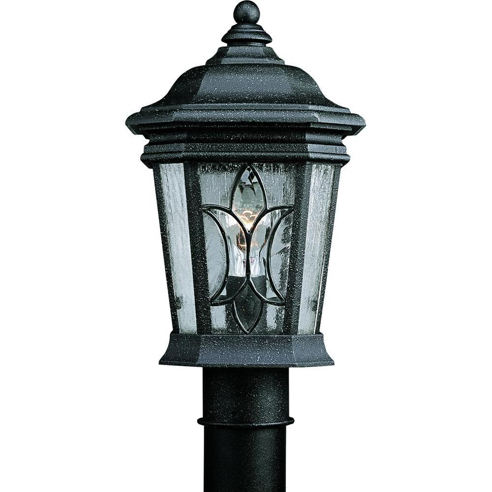 Progress Lighting Cranbrook Collection 1-Light Outdoor Gilded Iron Post Lantern