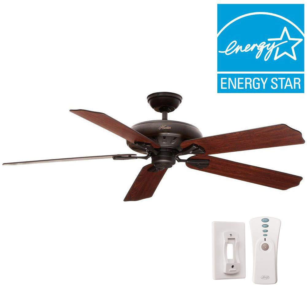 Oak Ceiling Fans With Lights : Hunter royal oak in indoor new bronze ceiling fan