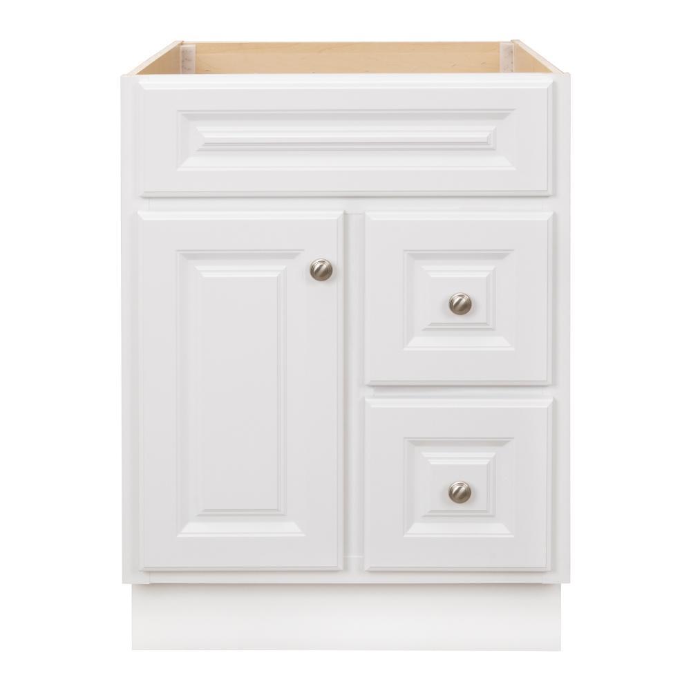 Glacier Bay Hampton 24 in. W x 21 in. D x 33.5 in. H Bathroom Vanity Cabinet Only in White