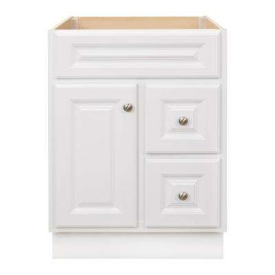 Hampton 24 in. W x 21 in. D x 33.5 in. H Bathroom Vanity Cabinet Only in White