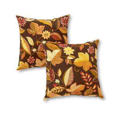 Timberland Floral Square Outdoor Throw Pillow (2-Pack)