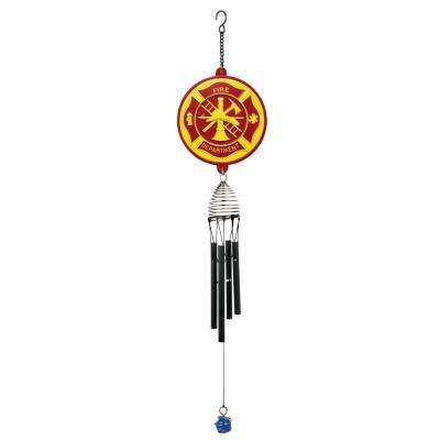 21 in. Resin Fire Department Wind Chime