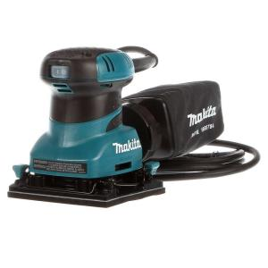 Makita 2 Amp Corded 1/4 Sheet Finishing Sander with 60G Paper, 100G Paper, 150G Paper, Dust Bag and Punch Plate by Makita