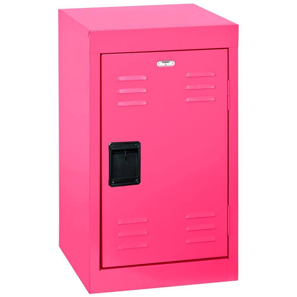 24 in. 1-Tier Steel Locker in Pom Pom Pink