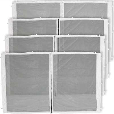 Zippered Mesh Sidewall Panels for 10 ft. x 10 ft. Straight Leg Canopy (4-Pack)