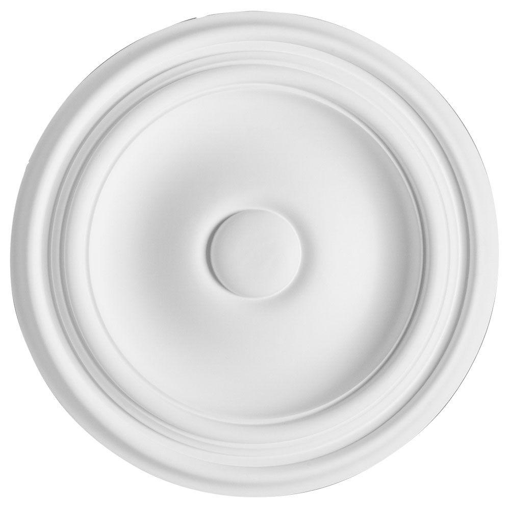 American Pro Decor European Collection 10-1/4 in. x 1 in. Traditional Plain Polyurethane Ceiling Medallion