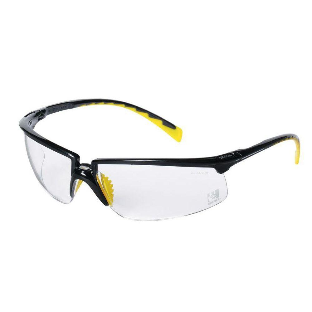 3M Holmes Workwear Black Frame with Clear Lenses Safety Glasses