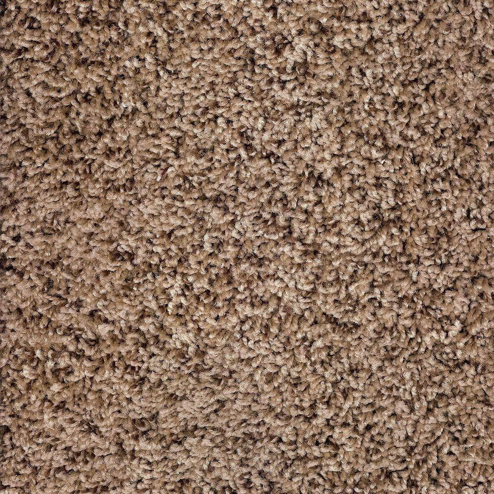 Simply Seamless Tranquility Toffee Texture 24 in. x 24 in. Residential Carpet Tile (10 Tiles/Case)