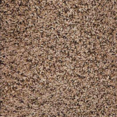 Tranquility Toffee Texture 24 in. x 24 in. Residential Carpet Tile (10 Tiles/Case)